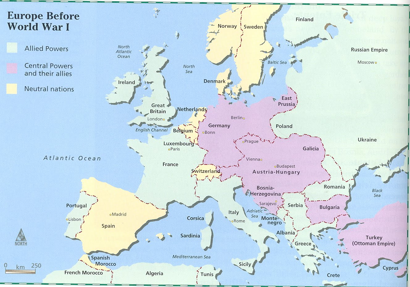 An introduction to the european socities prior to world war one