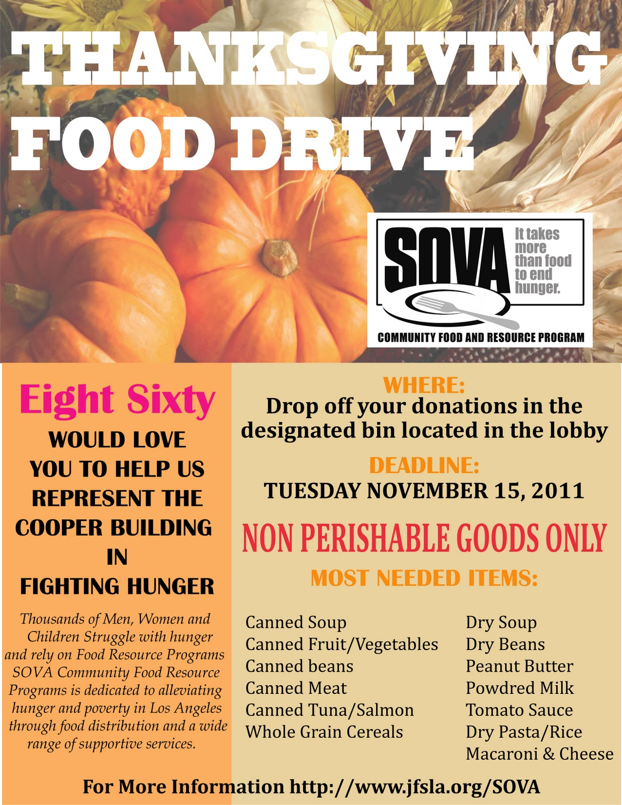 cooper design space our annual food drive has started