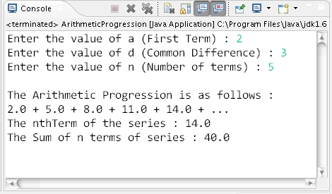 How to calculate Nth term and Sum of Arithmetic Progression