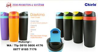 Botol promosi, souvenir DAYTONA drinkware, Tumbler promosi Daytona, Tumbler Travel, Tumbler Plastik Eksklusif Daytona