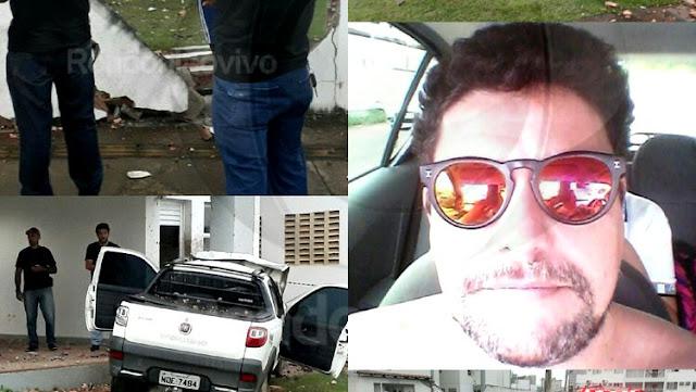 Policial Civil em carro morre após invadir vila da Aeronáutica em Porto Velho