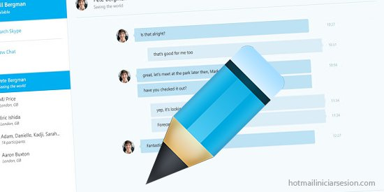 editar un mensaje en Skype luego de enviarlo