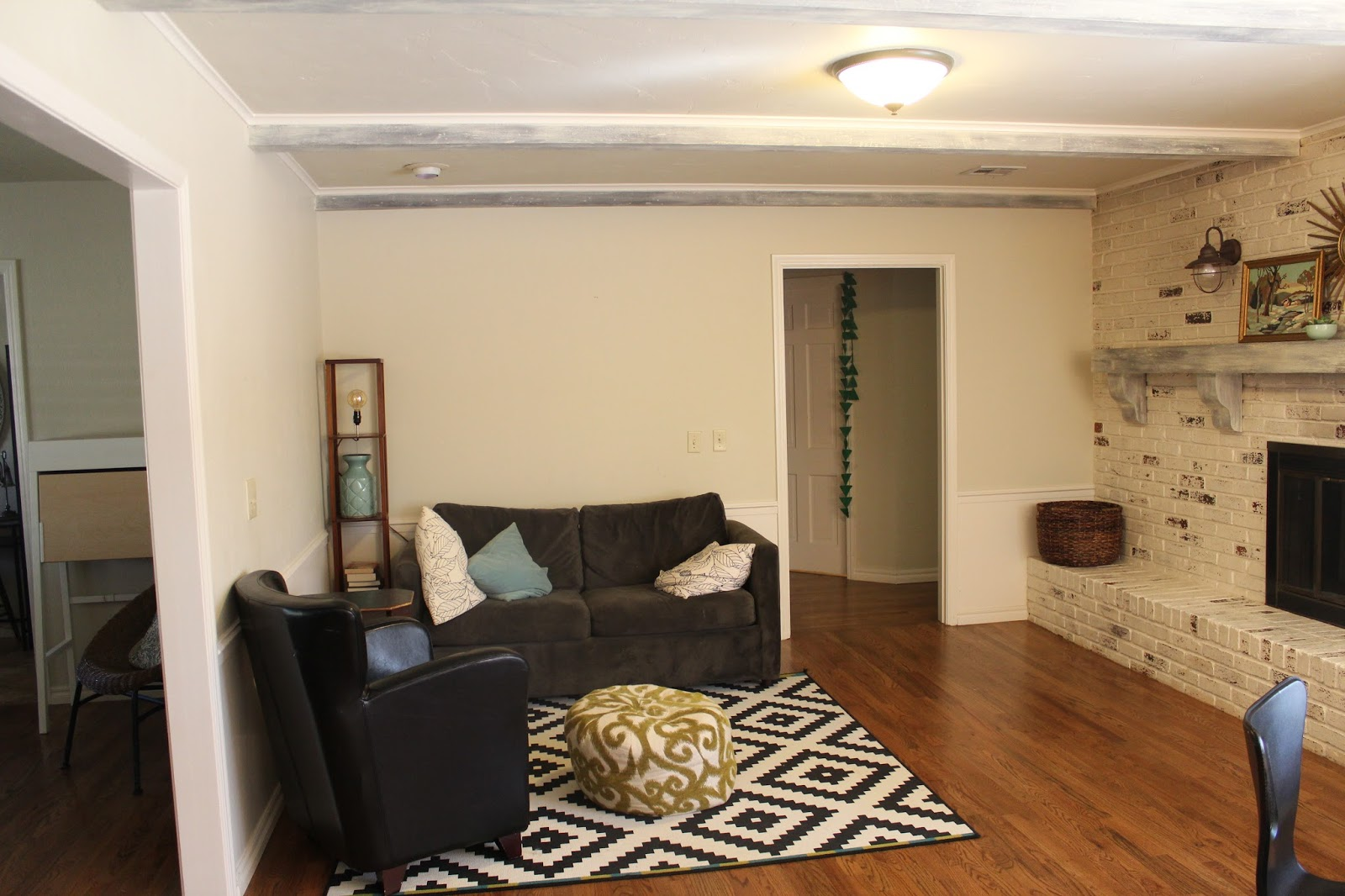Wainscoting Cream And Taupe Small Sitting Room