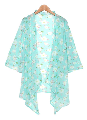 Floral bohemian hippie kimono shawl - $11.65  Affordable Springtime Bohemian Fashion {Pastel Bohemian, Springtime Boho Fashion and Accessories, Bohemian Easter}