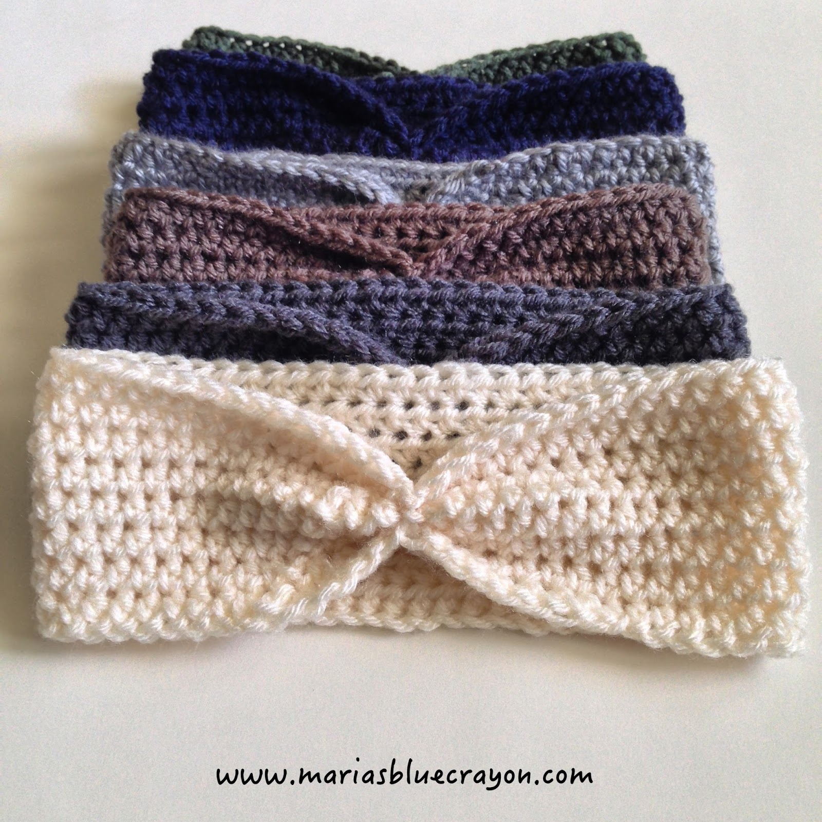 Simple Crochet Ear Warmer Free Pattern For Beginners Marias Blue