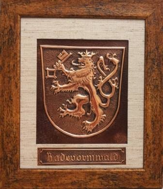 metalloplasie, metaloplastia, metaloplastie, modelarea tablei, métalloplastique, tablouri pe tabla de cupru, tablou, arta plastice, lucru manual, emblema radevormwald, stema radevormwald,