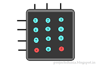 4*3 Keypad matrix