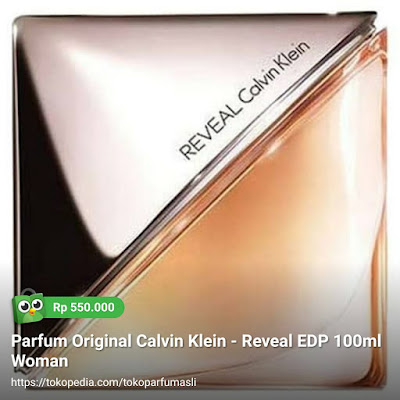 toko parfum asli parfum original calvin klein reveal edp 100ml woman