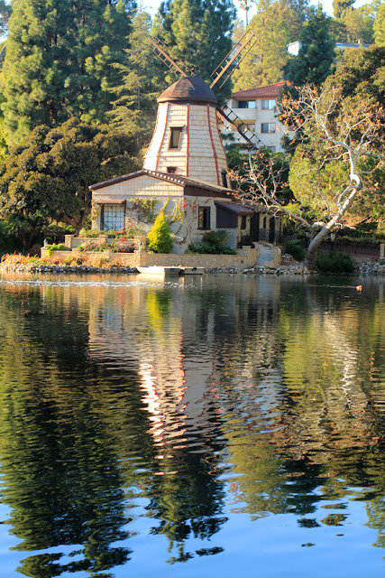 Windmill at The Lake Shrine - Center for Self Realization in Los Angeles, CA