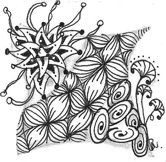 funbee gibt vielen tiles eine luftige verzierung embellishment - Zentangle Muster