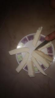 forma de un dedidto de queso