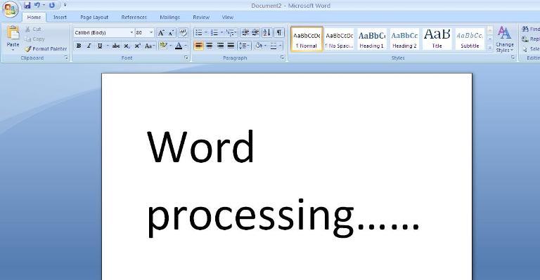 word processing applications - Tomadaretodonate