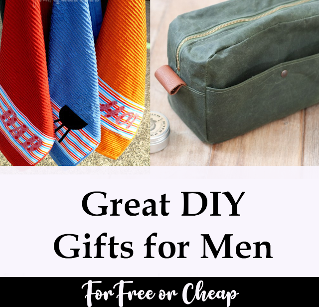Super clever DIY homemade gift for men for sewing and crafting.  Great for kids to help create as well as adults.