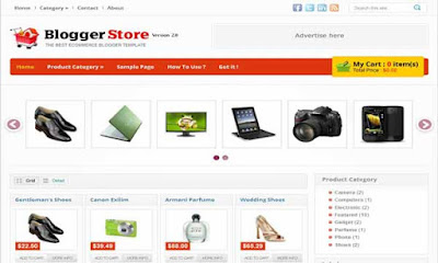 Blogger Store - Template Blog Toko Online