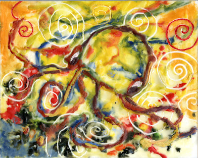 Encaustic painting of octopus © 2012 by Sylvia Liu