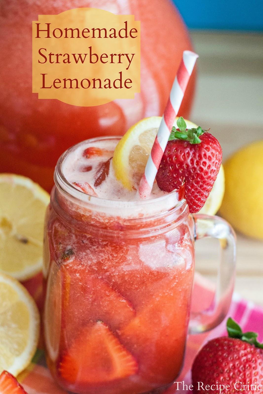Homemade Strawberry Lemonade Recipe #homemade #strawberry #lemonade #drinks #drinkrecipe