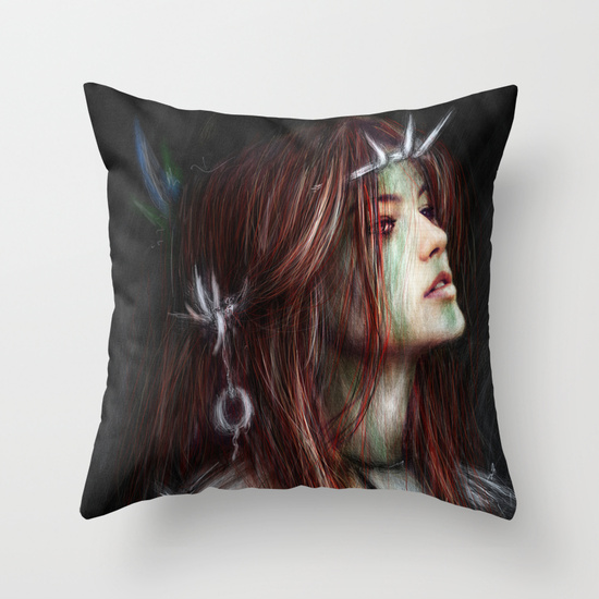 Throw pillow from Society6 by Justin Gedak