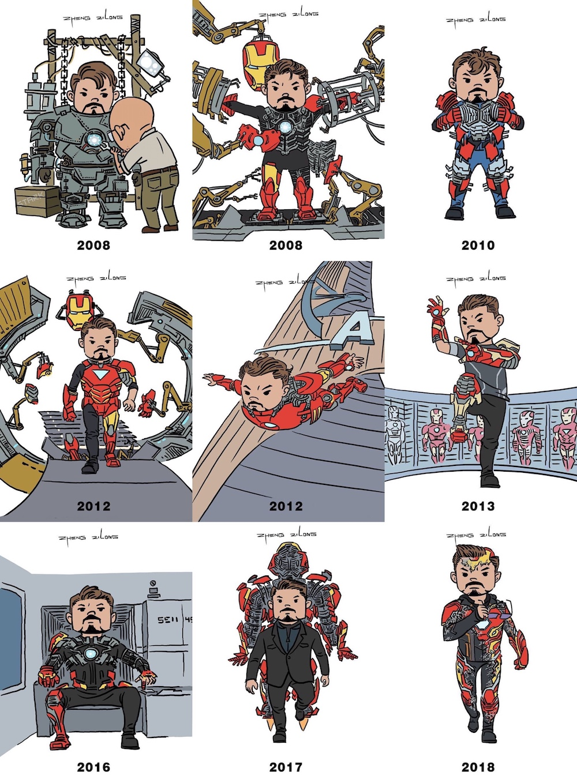 Tony Stark suits