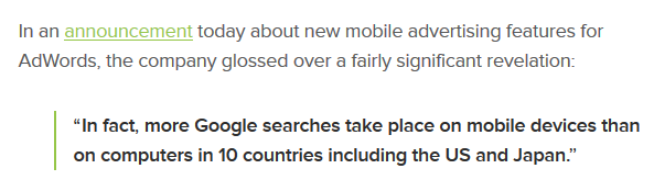 Google Launches New Mobile Ad Units, Reveals Mobile Search Has Overtaken Desktop