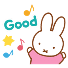 Miffy's Animated Pastel Stickers