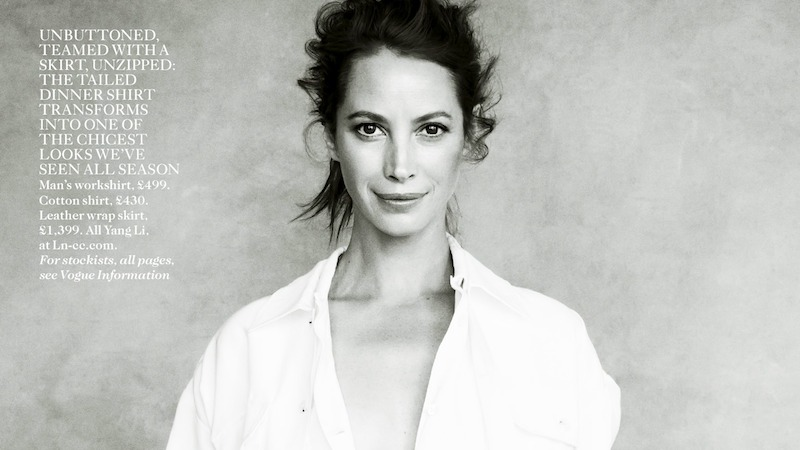 spirit of the moment: christy turlington by patrick demarchelier for uk vogue april 2014