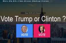 Trump vs. Clinton: sitio web para que cualquier persona pueda votar a Donald Trump o a Hillary Clinton