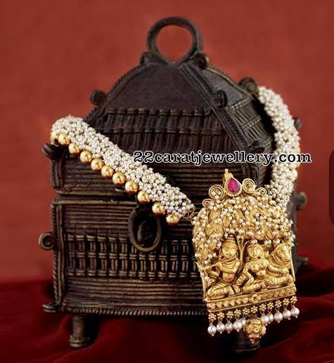 Lord Krishna Pearls Long Chain