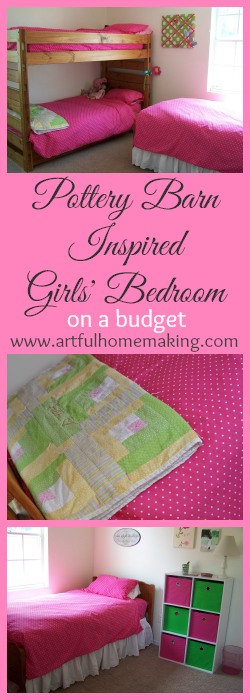 Pottery Barn Inspired Girls Bedroom On A Budget Artful