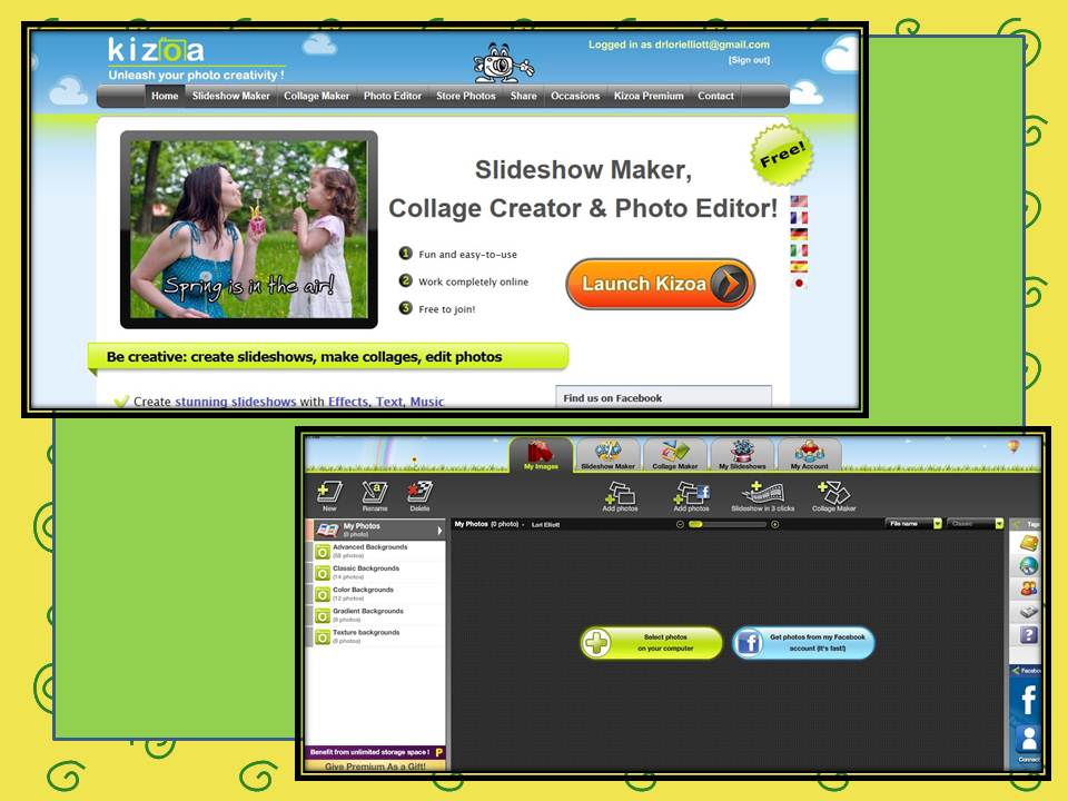Kizoa: Slideshow and Collage Maker – Dr  Lori Elliott Educational