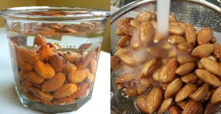 Soaking 4 Almonds