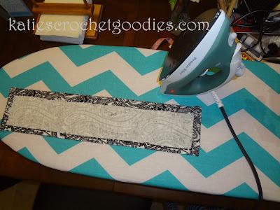 iron diy burp cloth fabric