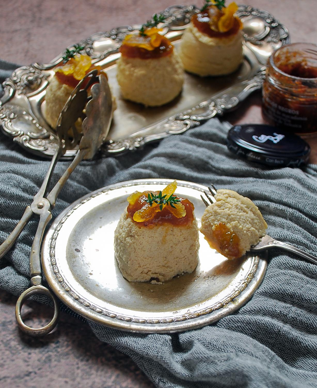Flan de foie con mermelada de higos