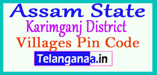 Karimganj District Pin Codes in Assam State