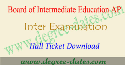 AP Inter hall tickets 2018 ap 1st 2nd year hall ticket download
