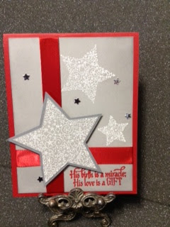 ODBD His Birth, ODBD Custom Sparkling Stars Dies, Customer Card of the Day designed by Lynda Pleckan aka JustCallMeNana