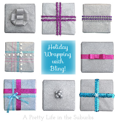 Holiday Gift Wrapping with Bling