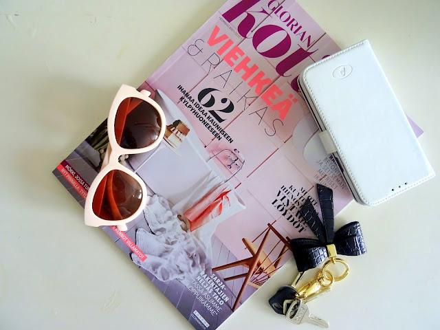 vaaleanpunainen, muoti, kauneus, asusteet, pukeutuminen, aurinkolasit, rusetti, avaimenperä