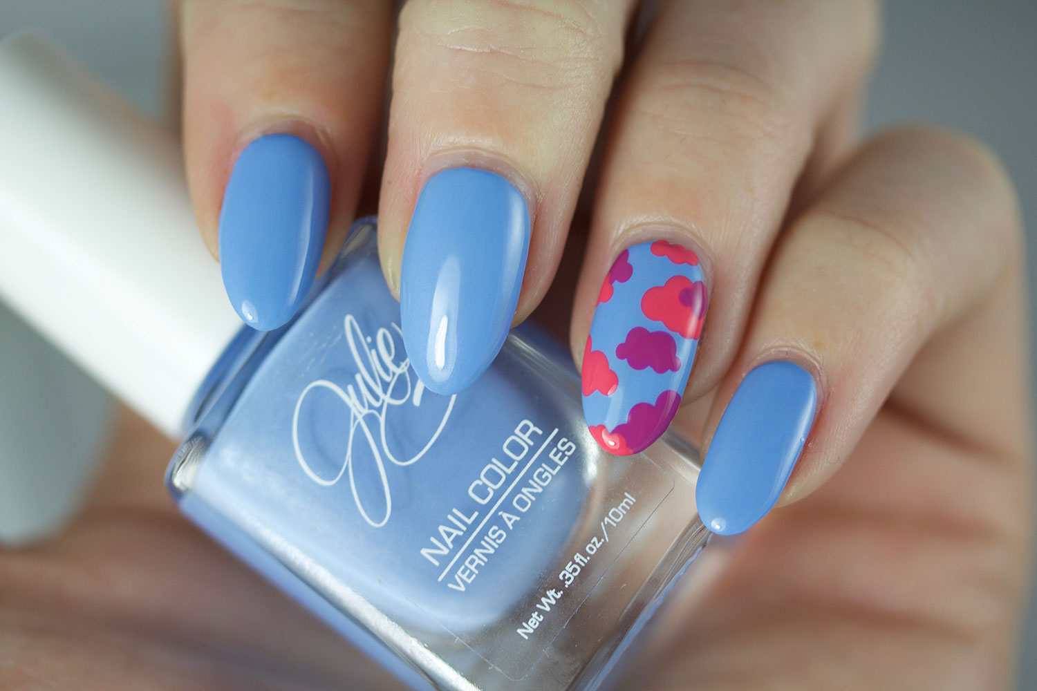 The Daily Nail, Jesse's Girl, Julie G, Santorini, swatch