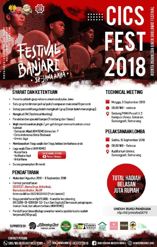 Info Festival Banjari Se-Jawa 2018 UKM Remo UNNES Semarang
