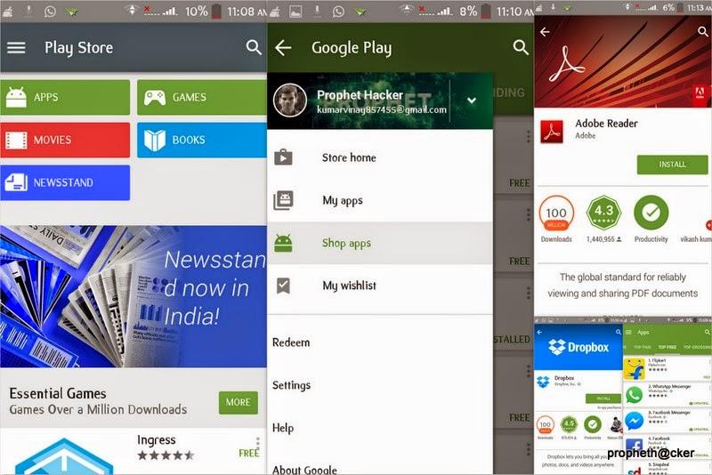 Download Google Play Store Material Design Update 5.0