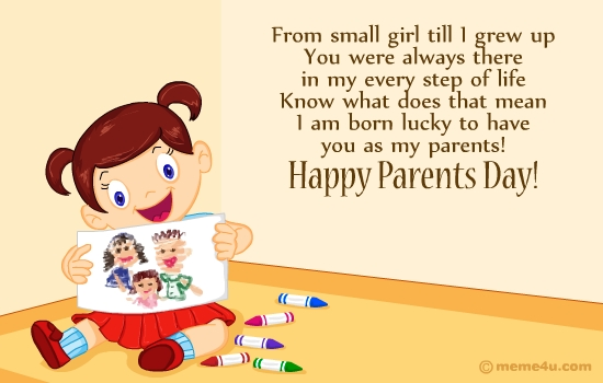 Greeting cards Of Parents Day 2016