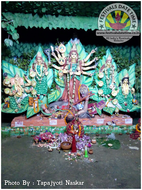 2016 LaxmiKantapur, Dayarampur Durga Murti Photo in West Bengal