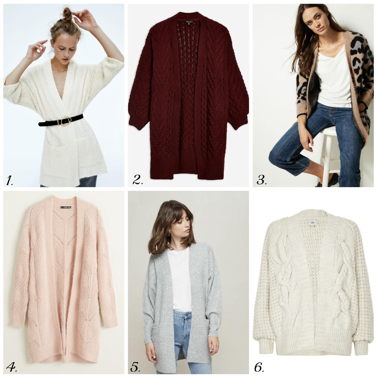 Cosy High Street Cardigans For AW18