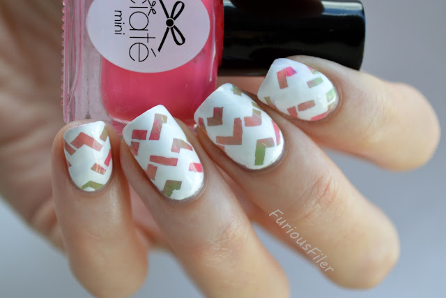 #31dc2015 modern art chevron triangle geometric nails