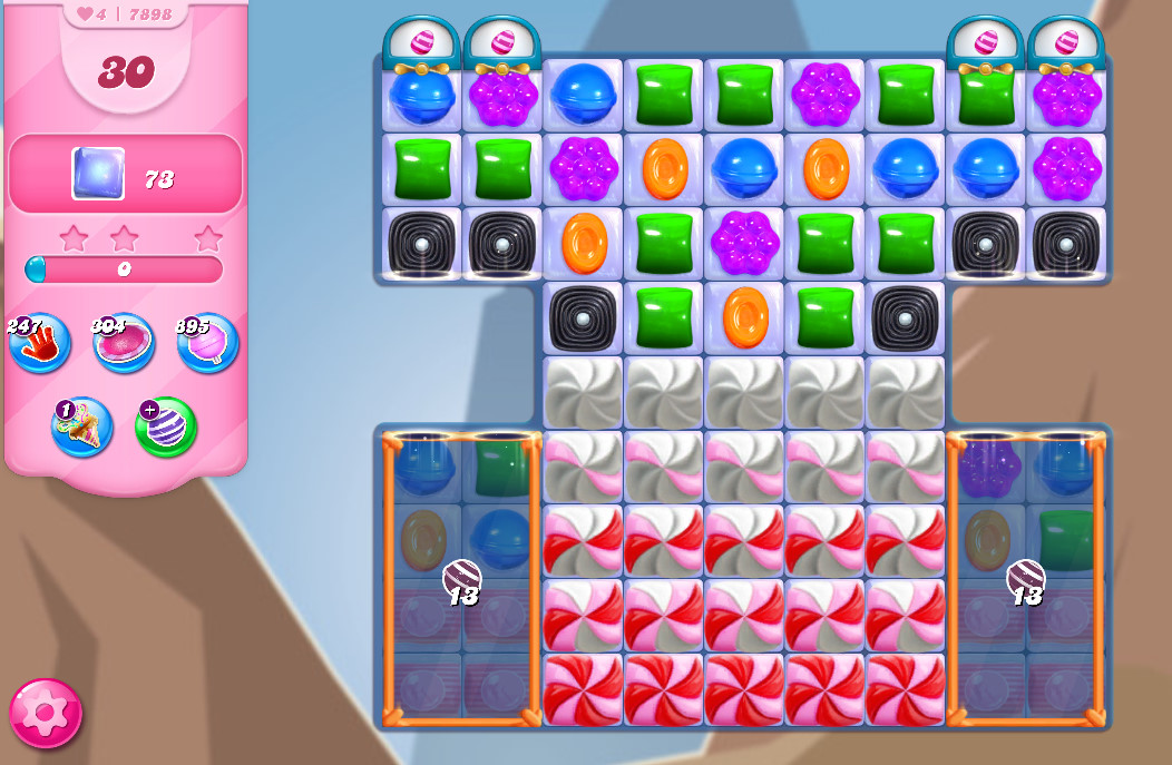 Candy Crush Saga level 7898