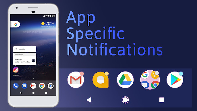 App Specific Notifications Android 8.0
