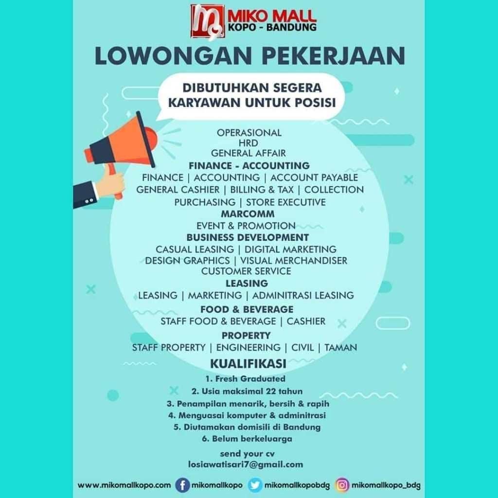 35+ Loker Bandung 2021 Hari Ini Pictures