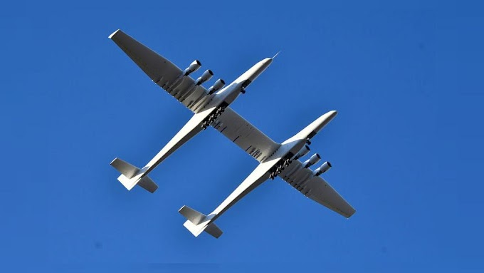 World's largest plane successfully completes first flight in California