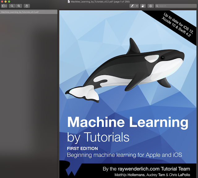 Machine Learning By Tutorials Ray Wenderlich Books Update for IOS 12 Xcode 10 and Swift 4.2