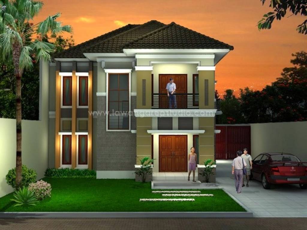 Kumpulan Desain Rumah Mewah Minimalis 2 Lantai